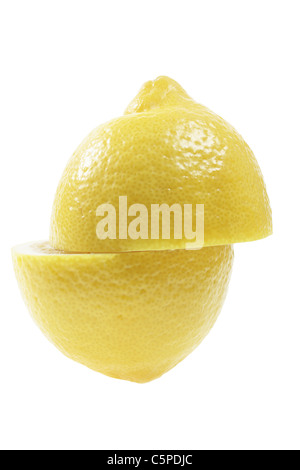 Lemon Cut in Half - Stock Photo