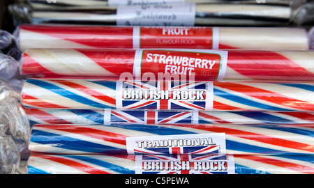 Sticks of British Seaside Rock - Stock Photo