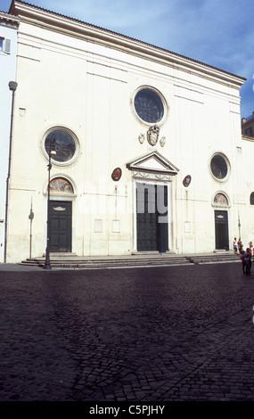 Santa Maria sopra Minerva, façade, Rome, Latium, Italy - Stock Photo