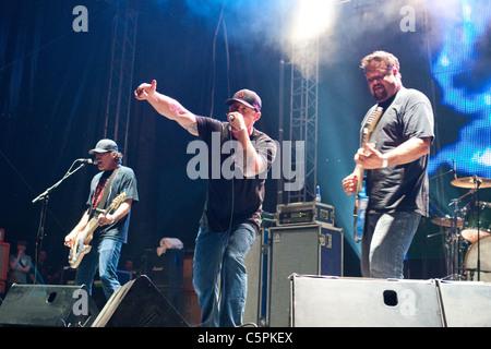 Pennywise perform at The Hegyalja Festival 2011 in Hungary, Tokaj,  13.July.2011 - Stock Photo