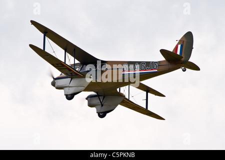 Vintage De Havilland Dragon Rapide, DH89a - Stock Photo
