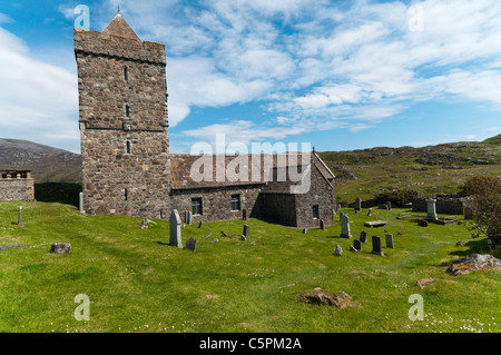 St Clement's church, Rodel, South Harris in the Outer Hebrides. - Stock Photo