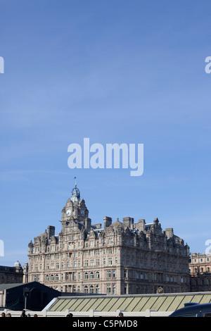 The Balmoral Hotel, Princes Street, Edinburgh, Scotland - Stock Photo