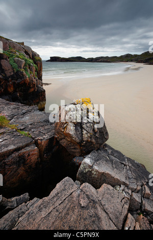 Oldshoremore beach, near Kinlochbervie, Sutherland, Highland, Scotland, UK. - Stock Photo