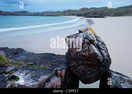 Oldshoremore beach, Sutherland, Highland, Scotland, UK - Stock Photo