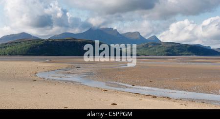 Ben Loyal and the Kyle of Tongue, near Tongue, Sutherland, Highland, Scotland, UK. - Stock Photo
