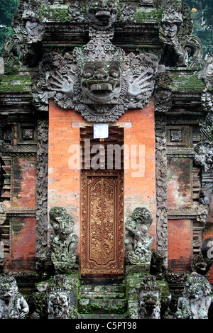 Temple of the Dead, Sacred Monkey Forest Sanctuary, Ubud, Bali, Indonesia - Stock Photo