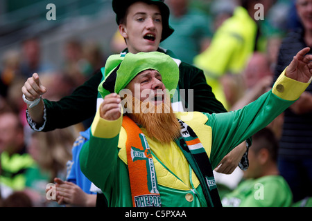 31.07.2011 - Fans enjoying the match, Dublin Super Cup 2011 in the Aviva Stadium Dublin (Celtic vs Airtricity XI) - Stock Photo