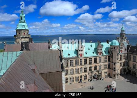 Kronborg palace (Hamlets Elsinore Castle), 1574-1585, Helsingor, Zealand, Denmark - Stock Photo