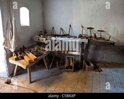 carpenters tools from old farm house - middle Slovakia - Sebechleby - Stock Photo