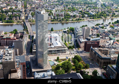 Europe, Germany, Hesse, Frankfurt, View of European Central Bank - Stock Photo