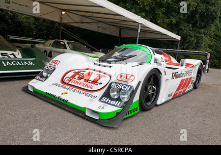 2008 Paragon-Porsche 962 Le Mans Group C racer in the paddock at the 2011 Goodwood Festival of Speed, Sussex, UK. - Stock Photo