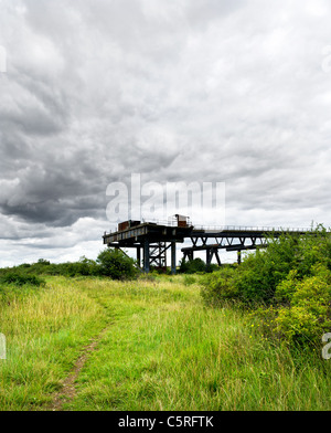 The remains of the Occidental Petroleum Jetty on Canvey Island in Essex. - Stock Photo