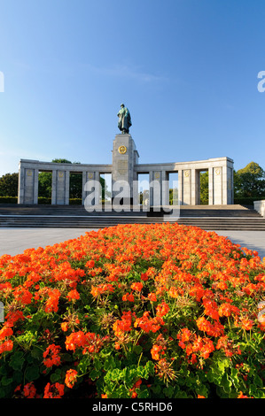 Soviet War Memorial in the Tiergarten park, Berlin, Germany, Europe - Stock Photo