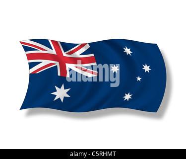 Illustration, Australian flag - Stock Photo
