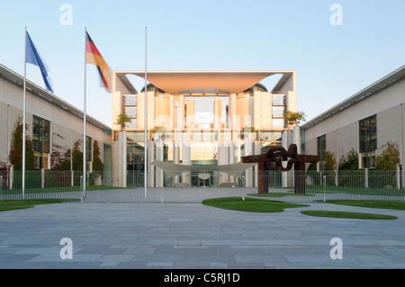Bundeskanzleramt Federal Chancellery at sunrise, Berlin, Germany, Europe - Stock Photo