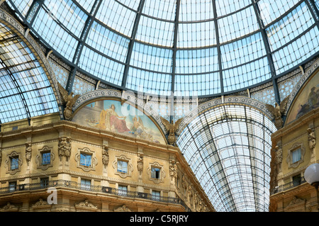 The Galleria Vittorio Emanuele II, Milan, Italy - Stock Photo