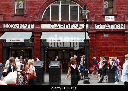 Covent Garden underground station, London, England, U.K. - Stock Photo