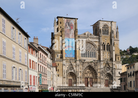 St Maurice Cathedral Cathedrale primatiale Vienne France - Stock Photo