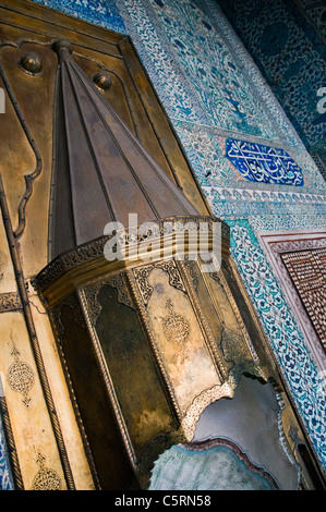Mimbar, an Islamic pulpit, Harem, Topkapi Palace, Istanbul, Turkey - Stock Photo