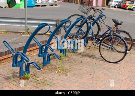 Cycle stand in Selby Back Micklegate car park. - Stock Photo