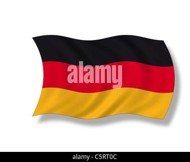 Illustration, German flag - Stock Photo
