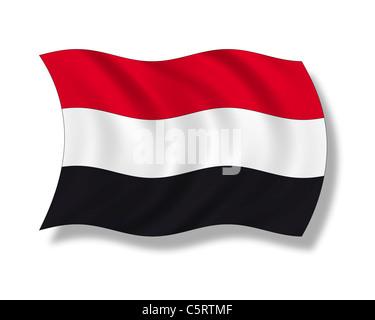 Illustration, Flag of Yemen - Stock Photo