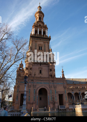 Plaza de Espana in Seville, Spain. - Stock Photo