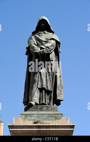 italy, rome, campo de' fiori, giordano bruno - Stock Photo