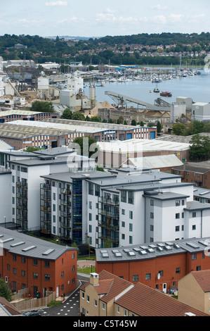 Southampton City centre, England - rooftop view - Stock Photo