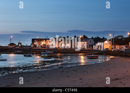Republic of Ireland, County Fingal, Skerries, View of townside beach - Stock Photo