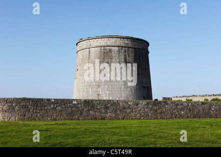Republic of Ireland, County Fingal, Skerries, View of Martello Tower - Stock Photo
