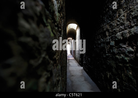 Germany, Rhineland-Palatinate, Treves, Imperial Thermal Bath, Subterranean corridor - Stock Photo