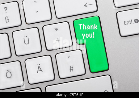 Illustration Of Keyboard Having Green Key With Smiley Face Close Up