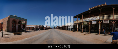 panorama of main street Tombstone, Arizona - Stock Photo