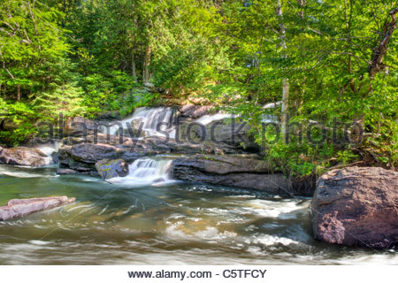 HDR photo of Nieman Falls left side in the Summer near Maynooth Ontario Canada - Stock Photo