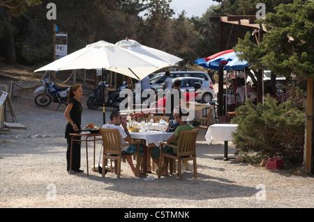 Ibiza, Balearics, Spain - Es Bol Nou beach, Sa Caleta restaurant - Stock Photo
