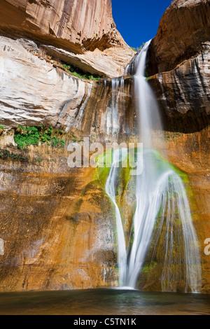 USA, Utah, Grand Staircase-Escalante National Monument, Calf Creek Falls - Stock Photo