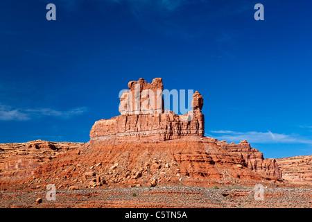 USA, Utah, Valley of the Gods, Desert scenery - Stock Photo