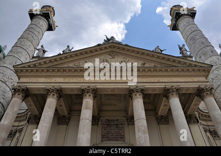 Church of St. Charles, Karlskirche, Vienna, Austria, Europe, June 2011 - Stock Photo