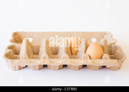 Eggs in box, close-up