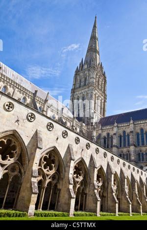 salisbury cathedral wiltshire England UK GB EU Europe - Stock Photo