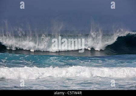 Spain, Canary Islands, Fuerteventura, View of beach - Stock Photo