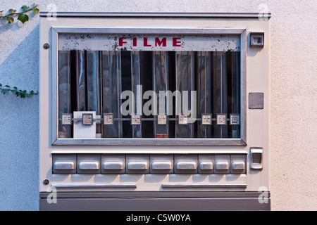 Germany, Old fashioned film automat, close up - Stock Photo