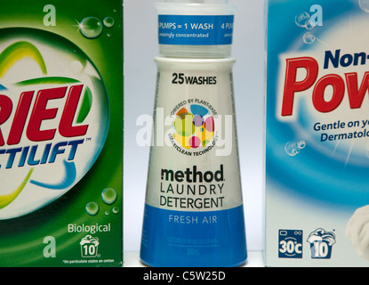 Method plant-based washing liquid with non-ecological washing powders, London
