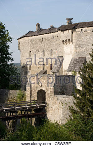 Germany, Bavaria, Tittmoning, Tittmoning castle - Stock Photo