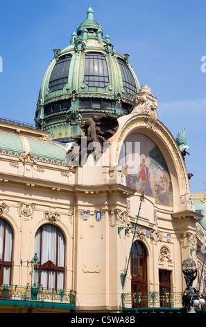 Czech Republic, Prague, Municipal house - Stock Photo