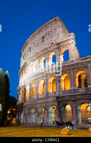 Italy, Rome, Colosseum at night - Stock Photo