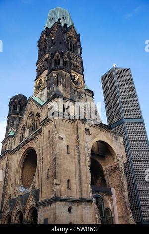 Germany, Berlin, Kaiser Wilhelm Memorial Church - Stock Photo