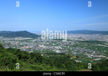 Cityscape of Kinokawa, Kinokawa, Wakayama, Japan - Stock Photo